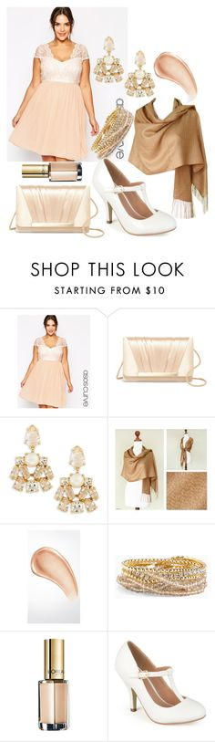"""Neutrals.Event/Party.Spring/Summer.Plus Size"" by setfree1289 ❤ liked on Polyvore featuring ASOS Curve, Jessica McClintock, Kate Spade, NOVICA, Burberry, Torrid, L'Oréal Paris, Journee Collection and plus size dresses"