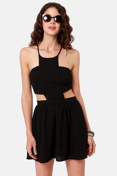 Race Against Time Backless Black DressLove it!