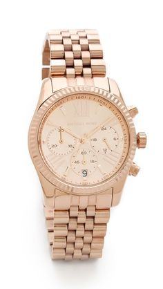 Love this Michael Kors Lexington watch - on sale for $160 with code:  EXTRASALE http://rstyle.me/n/uwphwnyg6