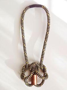 Big Copper Knot Necklace by Vista - a statement piece