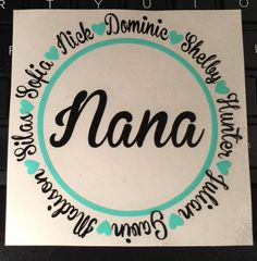 Personalized Decal Mom Decal Grandma Decal by AmandasDesigns05