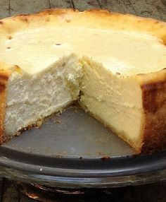 Cheesecake from Saveur Magazine. It's rich and creamy and delicious. If you're looking for a go-to cheesecake recipe, this is it!