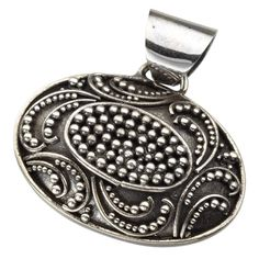 "Gorgeous ""jawan"" design, silver pendant, made in Bali, by FT artisan, Karyawati. Most discounts thru my website: www.jolica.com/cheryl.tieszen"