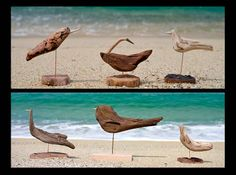 #流木 #流木アート #流木の鳥 #金澤尚 #屋久島アート  Birds of driftwood art-#2
