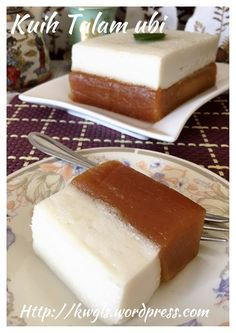 Steamed Tapioca Flour Cake - KuihTalam Ubi (木薯打南糕) #guaishushu #kenneth_goh      #talam_ubi
