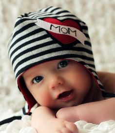 Mom beanie...I would have another baby just so he could wear this.
