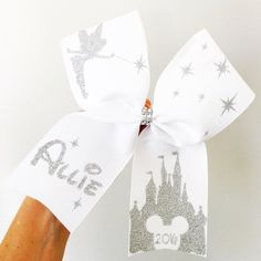 Deluxe Personalized Tinkerbell Competition Cheer Bow YOU CHOOSE COLORS
