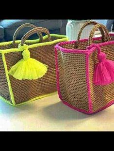 Crochet Handbags, Crochet Purses, Crochet Shoulder Bags, Diy Bags Purses, Boho Bags, Jute Bags, Vintage Bags, Knitted Bags, Leather Pouch