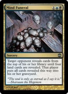 Mind Funeral Magic the Gathering Alara Reborn mtg uncommon blue black card
