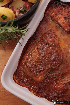 Piersi kurczaka w słodkim sosie musztardowym