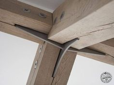 Traditional timber framing combined with modern steel fixings to create light and airy open spaces by Carpenter Oak Roderick James Architects Detail Architecture, Interior Architecture, Into The Woods, House In The Woods, Oak Frame House, Joinery Details, Timber Structure, Wood Joints, Timber Frame Homes
