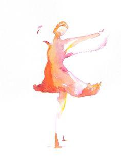 Ballet Dancer Painting Ballerina Ballerina Art by AngelicbyJones, $18.00