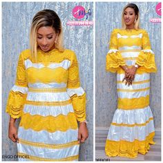 Tabaski This collection of Mifa captivates fashion fans … Latest African Fashion Dresses, African Dresses For Women, African Wear, African Attire, Ankara Skirt And Blouse, Afro, Lace Dress Styles, African Traditional Dresses, Fashion Outfits