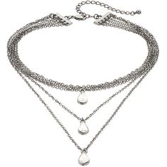 Mudd® Teardrop Layered Choker Necklace ($13) ❤ liked on Polyvore featuring jewelry, necklaces, black, clasp necklace, teardrop jewelry, layered choker, mudd jewelry and tear drop jewelry