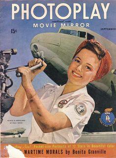 Olivia de Havilland on the cover of Photoplay, November 1943