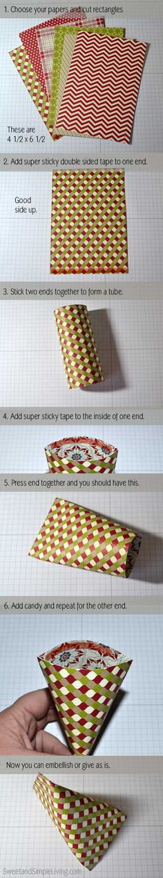 Christmas Paper Craft Ideas: Sour Cream Containers