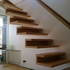 Staircase Design Modern, Home Stairs Design, Interior Stairs, Home Room Design, Home Design Plans, Small Space Interior Design, Interior Design Living Room, Tiny House Stairs, Staircase Railings