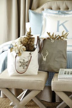 We stuffed Suzanne Kasler's tote bags with some of our favorite holiday goodies -- the perfect all-in-one gift for anyone on your list!