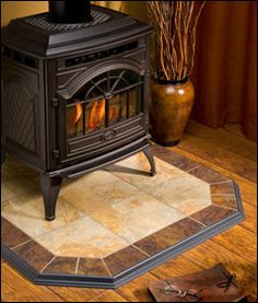 hearth classics tile and stone hearth pads are hand crafted to provide the ideal foundation wood stove