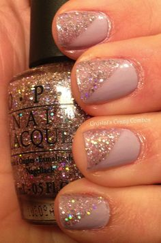 love this combination. so elegant yet it has glitter!
