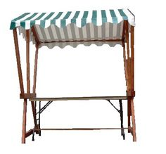 +CAT015 - Market Stall c/w Striped Canopy