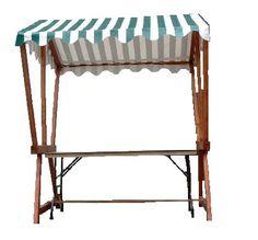 +CAT015 - Market Stall c/w Striped Canopy