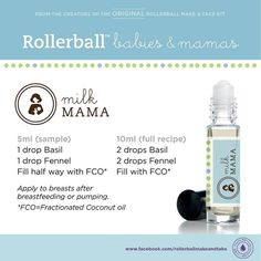Essential oils roll-on recipe for milk mama.