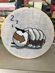 Binged Avatar: The Last Airbender a while back and decided to embroider the fish for my second project, really proud of how they came out. : Embroidery Basic Embroidery Stitches, Embroidery On Clothes, Simple Embroidery, Hand Embroidery Patterns, Cross Stitch Embroidery, Embroidery Patches, Geeks, Appa Avatar, Anime
