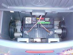 ~Cheap and Easy Power Wheels Hack~ Power Wheels Quad, Custom Power Wheels, Kids Car Garage, Diy Go Kart, Solar Panel System, Kids Ride On, Lead Acid Battery, Hacks, Easy