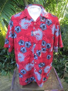 9be590c63 Aloha Polyester Regular Hawaiian XL Casual Shirts for Men | eBay. HAWAIIAN  Aloha SHIRT XL pit to pit 26.5 EXTREME GEAR ...