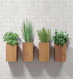 horta em vasos na parede - Pesquisa Google