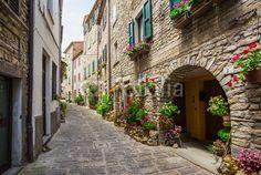 Obraz na płótnie Włoska uliczka (69581774) #wf1538 - Obrazy na płótnie Do biura | Foteks