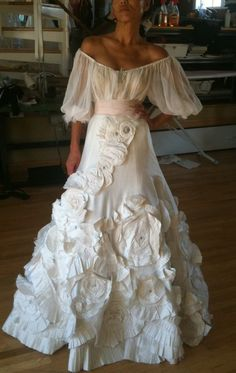 Spanish style wedding dress- not your traditional wedding dress but very sexy.