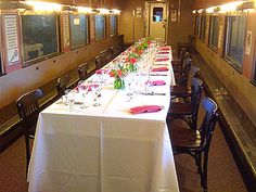 Small corporate meeting or gathering?  How about dining on an elegant train car?  Check out St. Louis' Museum of Transportion for a unique venue and one-of-a kind meeting spaces!