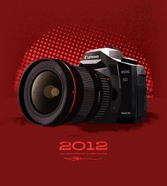 Illustrations in celebration of Canon Canada's 40th anniversary. By James White