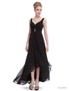 beach wedding Sweetheart A line high-low silk chiffon dress  $119.99