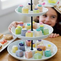 """Dainty and sophisticated, these cakes (adapted from """"Pink Princess Tea Parties"""" by Barbara Beery) are a real showstopper -- especially for a special occasion like a Mother's Day Tea Party. And since they're made from store-bought pound cake, they're surprisingly easy to prepare. You can decorate the tops with sprinkles, colored sugar, or candy flowers."""