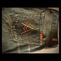 Seven A pocket Jeans size 34 waist A pocket sevens excellent condition. Straight leg/boyfriend 7 for all Mankind Jeans Boyfriend