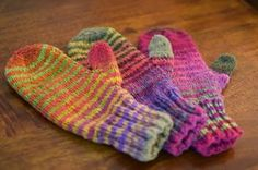 Susan B. Anderson: Waiting for Winter Mittens ~ Bigger and Now Little, too!