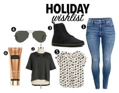 """""""wishes"""" by lovecostarica ❤ liked on Polyvore featuring H&M, Melissa McCarthy Seven7, Dr. Martens, Ray-Ban, contestentry, 2015wishlist and plus size clothing"""