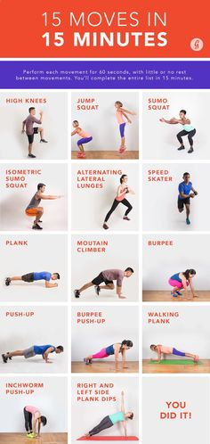 The holiday season is upon us—which means hectic days, busy nights, and just about zero time (or energy) for a workout. Thankfully, we have a 15-minute solution, courtesy of celeb trainer and Cyc Fitness creator Keoni Hudoba.