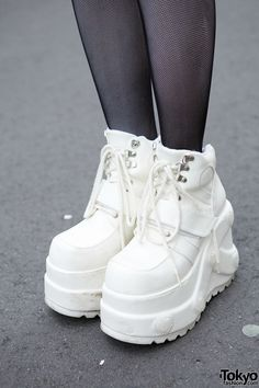 I would NEVER wear these shoes for I hate being taller than I already am... but I am allured by their beauty.