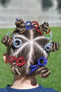 This is a borrowed hairstyle but I've always loved it and I think it was perfect for the Pioneer Day fireworks show in Utah. You have to kin...