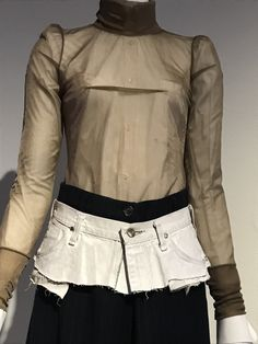 Martin Margiela, Ruffle Blouse, Tops, Women, Fashion, Moda, Fashion Styles, Fashion Illustrations, Woman