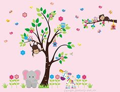 "Baby Nursery Kids Children's Wall Decals: Safari Jungle Animals Wildlife Themed 88"" tall X 115"" wide (Inches): Repositionable Removable Reusable Wall Art: Better than vinyl wall decals: Superior Material Nursery Wall Decals http://www.amazon.com/dp/B00SAG4UIY/ref=cm_sw_r_pi_dp_ZO-Uvb0C0V27Q"