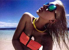 Electric Neon Swimsuits - The Anja Konstantinova for Grazia Australia Editorial is '80s-Inspired (GALLERY)
