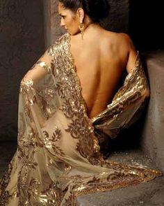 Amazing gold #Saree by Suneet Varma http://www.suneetvarma.in/