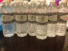 water bottle labels.. not a bad idea for an outside wedding in August
