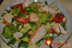 Fine Food Recipes: Easy salad with chicken recipe Diet Recipes, Chicken Recipes, Cooking Recipes, Clean Eating, Easy Salads, Vegetable Salad, Chicken Salad, Food To Make, Good Food