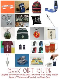 Geek Gifts! Gifts for Doctor Who, Harry Potter, Game of Thrones, and Lord of the Rings fans
